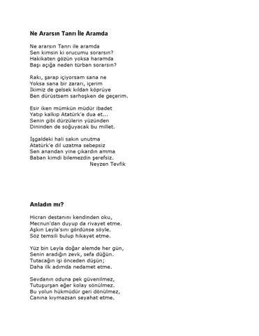 Neyzen Tevfik şiirler Pdf Sen De Paylaş Türkçe Kitap Ekitap E