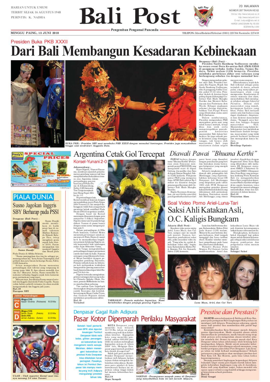 Edisi 13 Juni 2010 | Balipost.com by e-Paper KMB - issuu