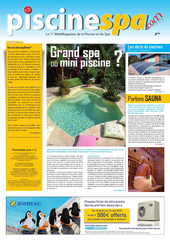 Prix Piscine Aquilus Mini Water piscinespa n°2piscinespa - issuu