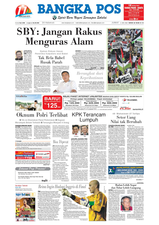 Harian Pagi Bangka Pos Edisi 04 Juni 2010 By Issuu Parcel Makanan Ampamp Keramik Pja 1608