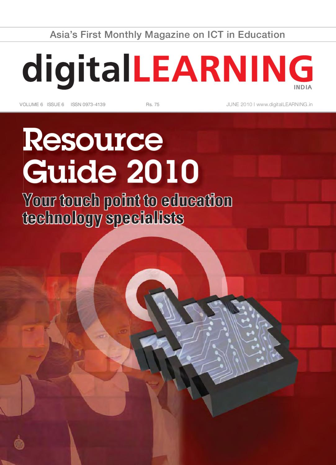 ResourceGuide 2010 : June 2010 by digital LEARNING Magazine