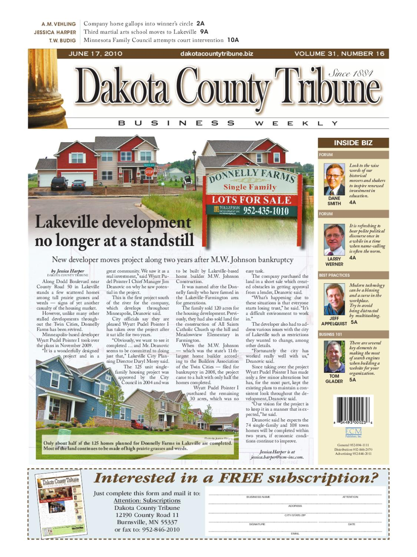06/17/2010 - dakota county tribune business weekly by dakota