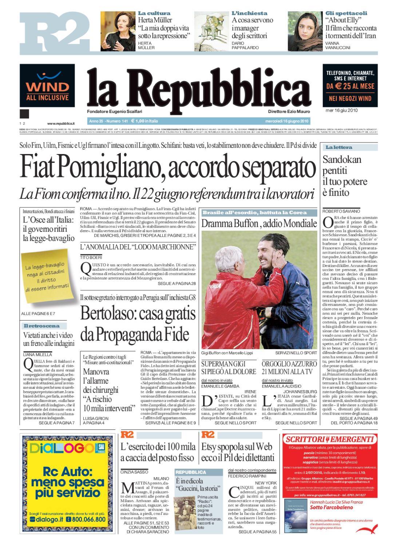 LaRepubblica_16062010 copia by Roberto Giacomelli issuu