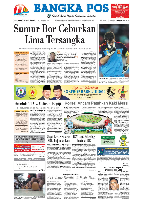 Harian Pagi Bangka Pos Edisi 17 Juni 2010 By Issuu Parcel Makanan Ampamp Keramik Pja 1608