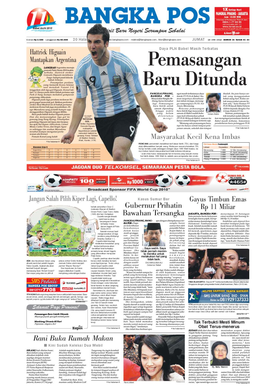 Harian Pagi Bangka Pos Edisi 18 Juni 2010 By Issuu Produk Ukm Bumn Baterai Abc Alkaline Aa