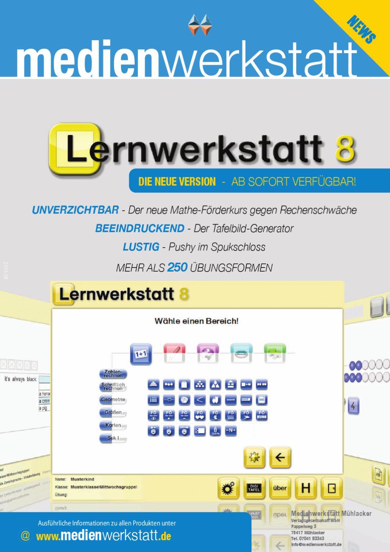 Lernwerkstatt 8 Prospekt by Medienwerkstatt Mühlacker Verlagsges.mbH ...