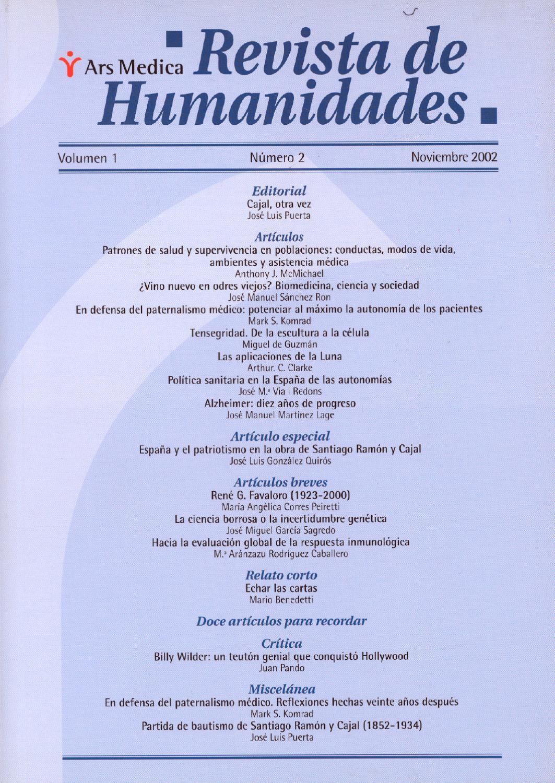 1-2 Dendra Medica / Ars Medica Vol 1 Num 2 by Jose Manuel Perez Rua ...