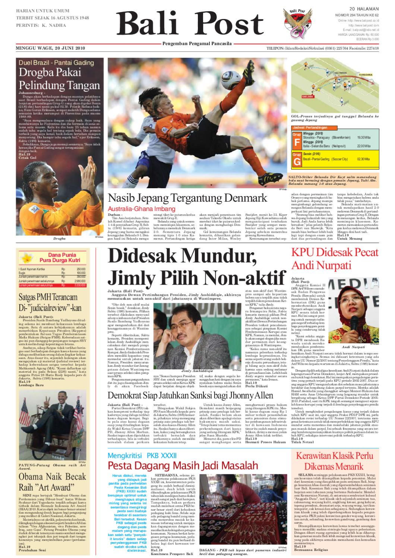 Edisi 20 Juni 2010 Balipostcom By E Paper Kmb Issuu Voucher 200 Double Point Sticker Tiara Gatzu Monang Maning Toko Soputan