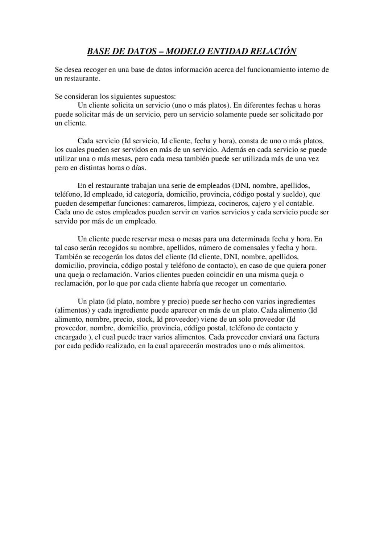 MER - BASE DE DATOS RESTAURANTE by Brais López - issuu