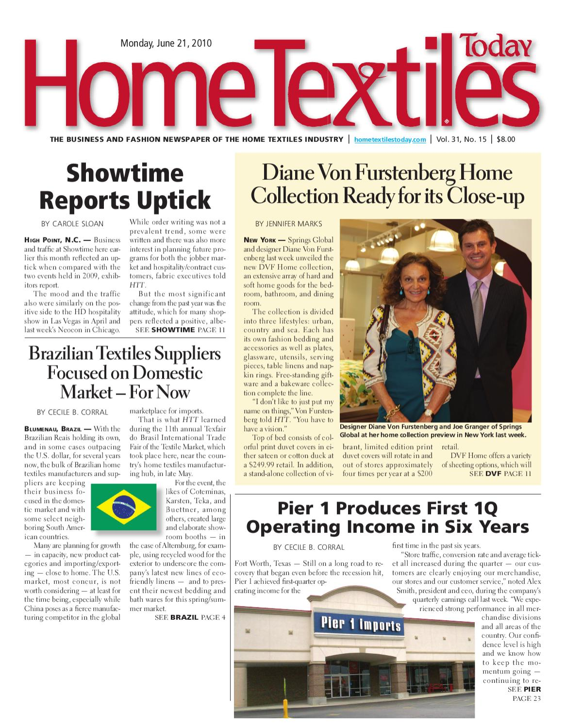 Home Textiles Today June 21st 2010 By Sandow Media Issuu