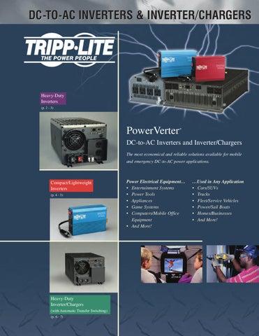 Tripp Lite PowerVerter 375 DC to AC Power Inverter 230 Volts