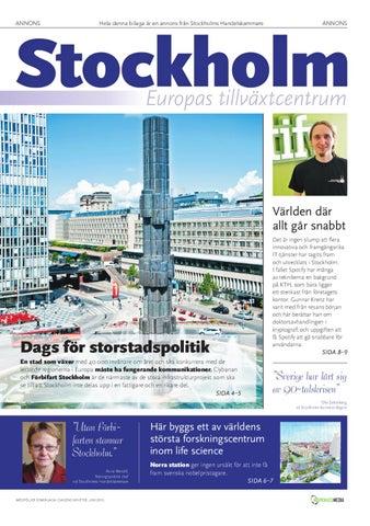 Europeiska institut satsar i stockholm
