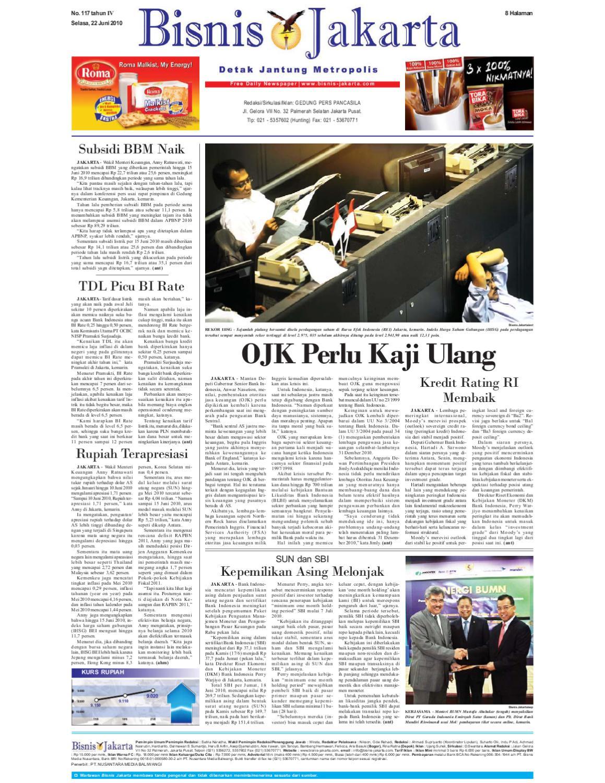 Bisnis Jakarta Selasa 22 Juni 2010 By E Paper Kmb Issuu Produk Ukm Bumn Ring Berlian Eropa