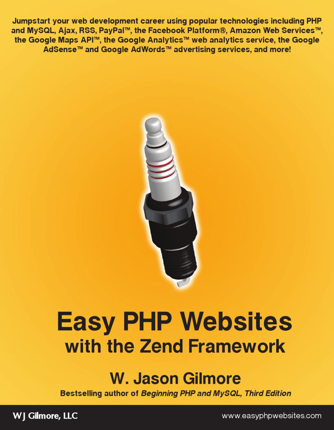 Easy PHP Websites Zend Frame by VINAY Kr  SHARMA - issuu
