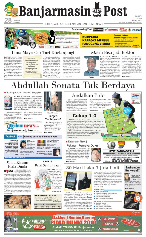 Banjarmasin Post Edisi 24 Juni 2010 By Issuu Sensi Doctor Cap Green Penutup Kepala 50 Pcs Khusus Area Pulau Jawa
