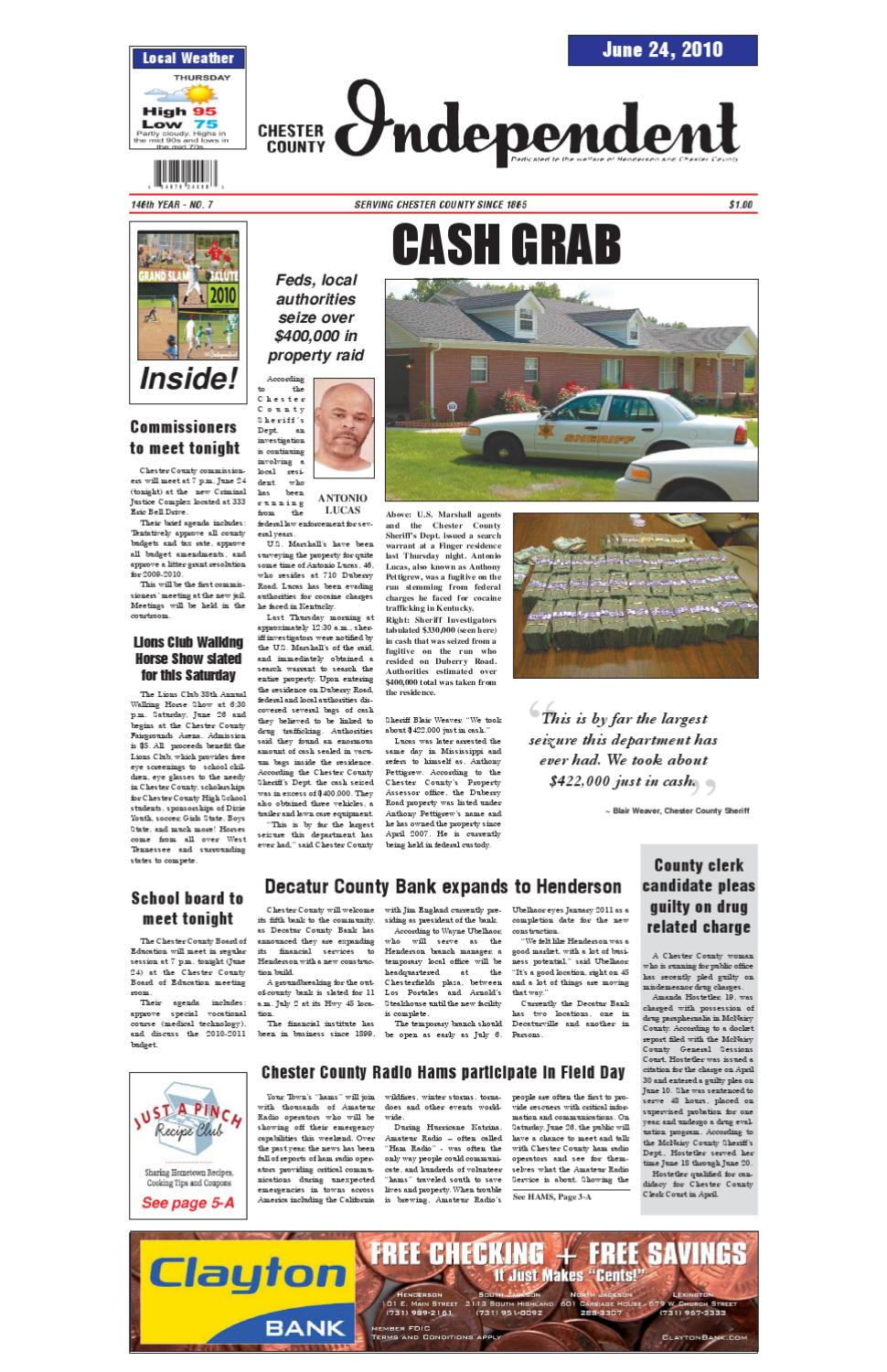 Tennessee chester county enville - Chester County Independent 06 24 10 By Chester County Independent Issuu