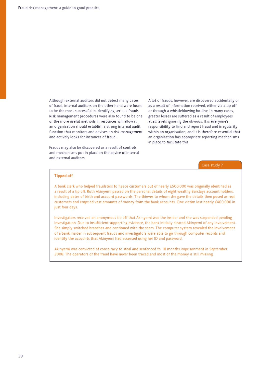 Fraud Risk Management A Guide To Good Practice By Chartered Institute Of Management Accountants Issuu