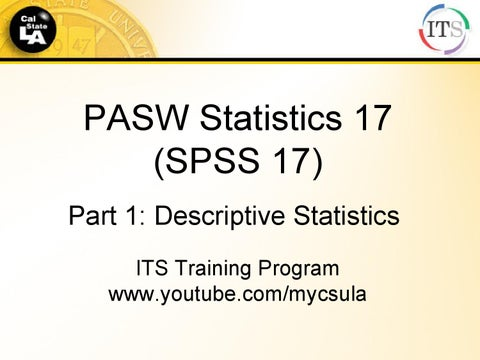 SPSS statistics - help, videos, and examples by its training - issuu