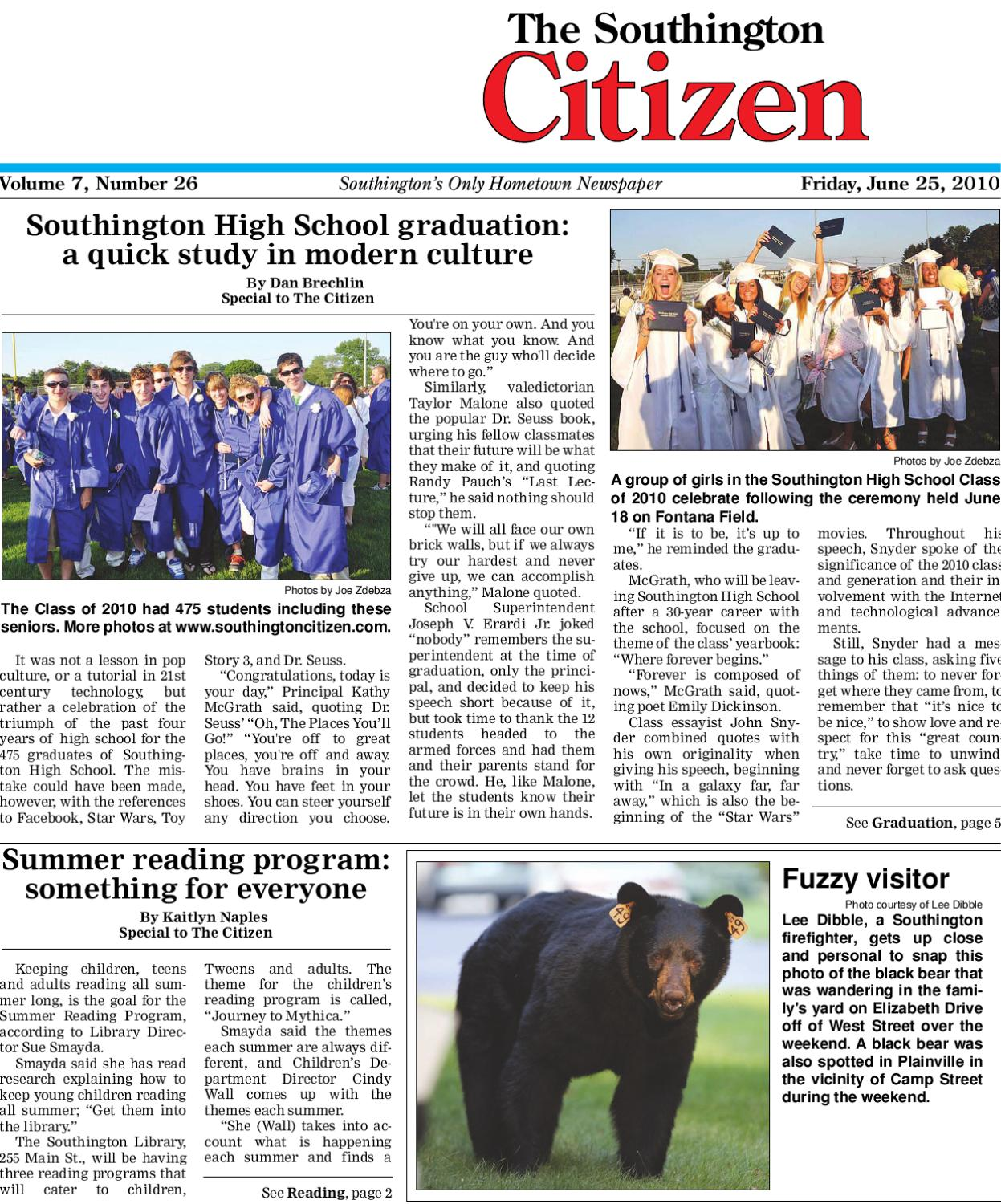 6 25 2010 southington citizen by dan champagne issuu