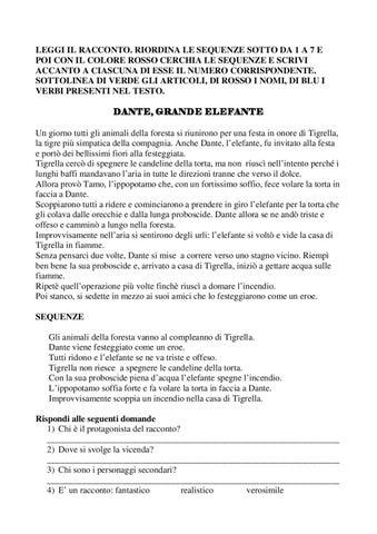 Schede Per Alunni Classe 4 By Istituto Comprensivo Gianni Rodari