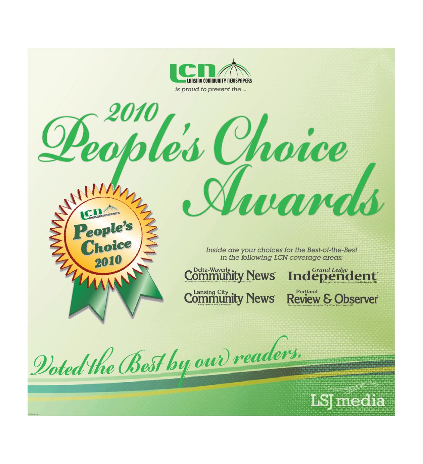 Lansing Community News People's Choice Awards by Lansing ...