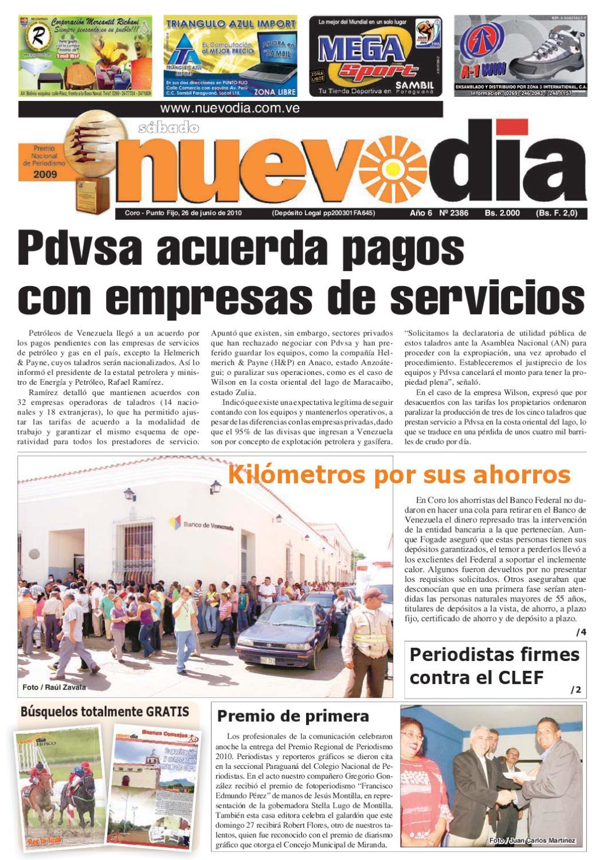Diario Nuevodia Sábado 26-06-2010 by Diario Nuevo Día - issuu