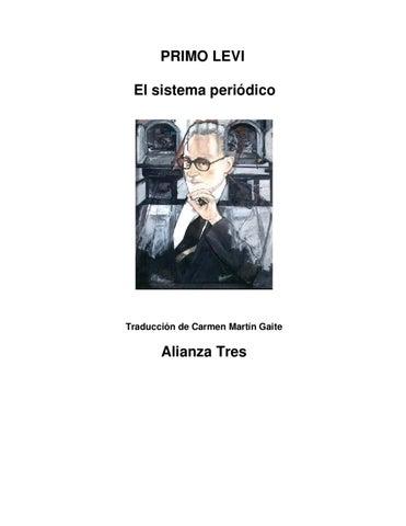 El Sistema Periodico de PrimoLeví by Dina Lianabel - issuu
