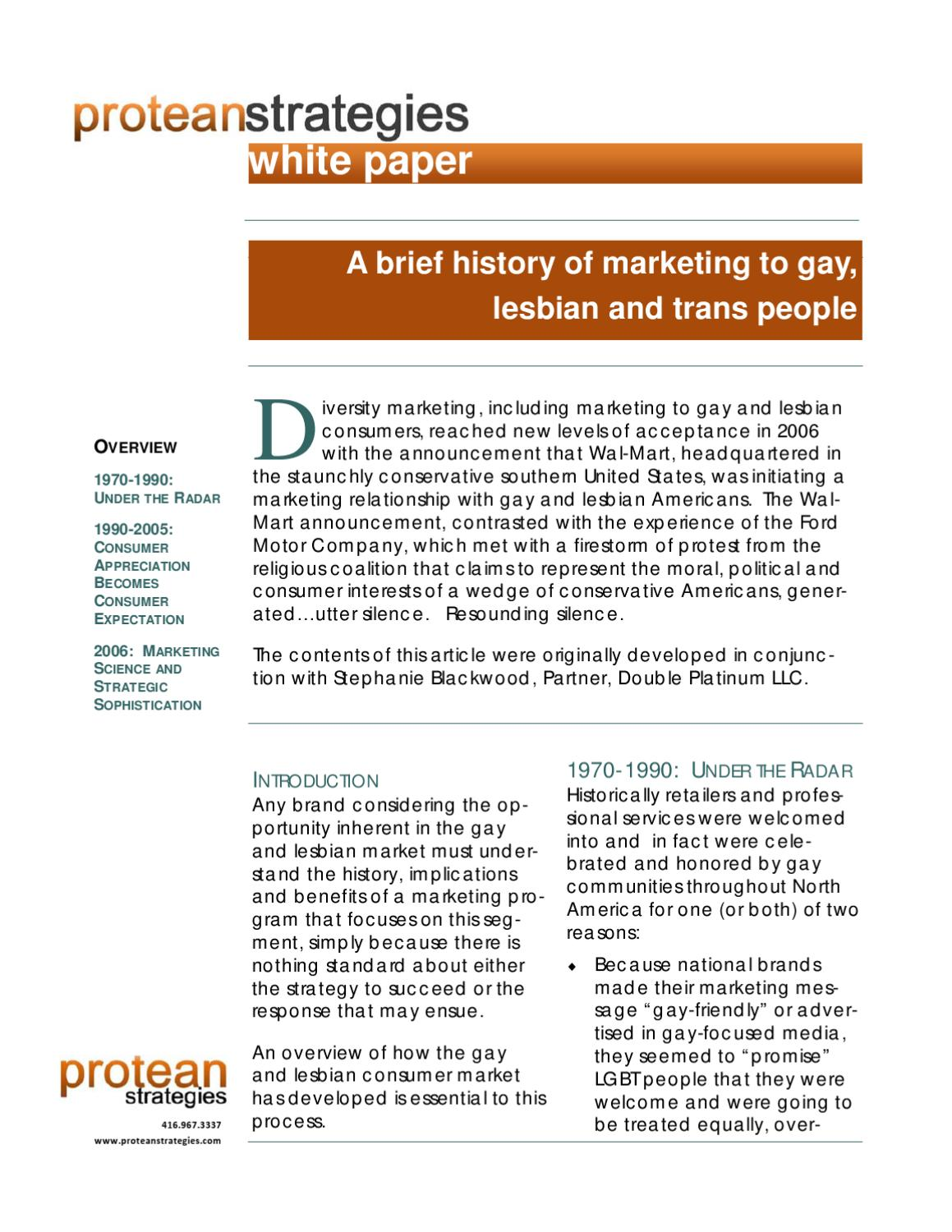 A brief history of gay marketing by protean strategies issuu for Ford motor company marketing strategy