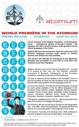 Audioguides In 26 Languages By Atomium Issuu