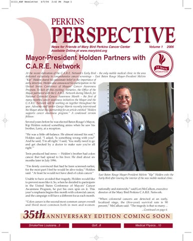 2006 V1 Perkins Perspective By Mary Bird Perkins Cancer Center Issuu
