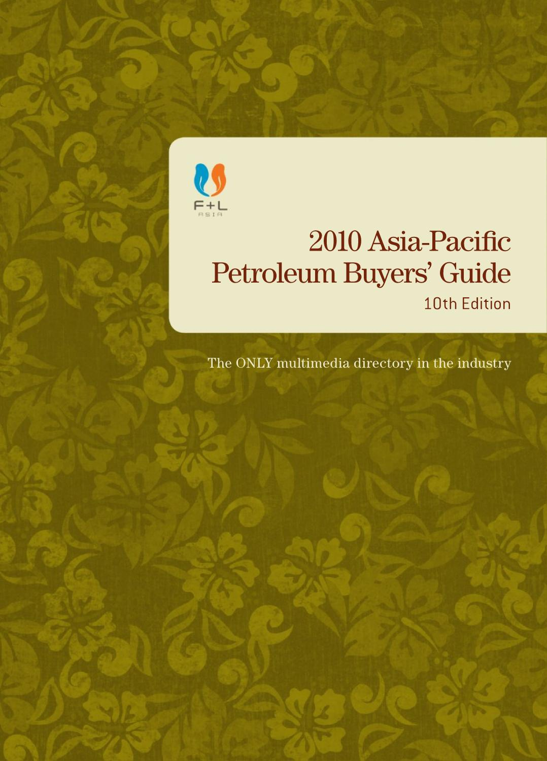 10th Asia Pacific Petroleum Buyers Guide By F L Asia Issuu