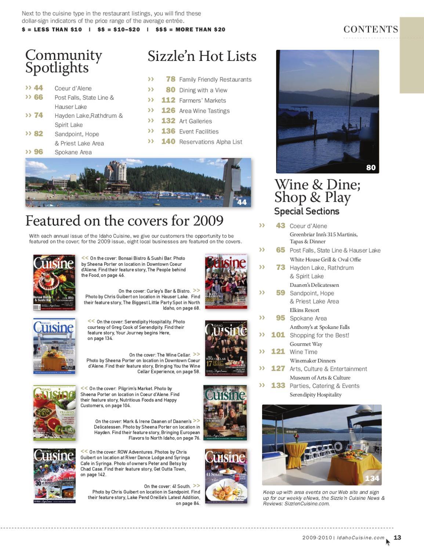 Idaho Cuisine 2009 2010 By Sizzle N Cuisine News Reviews Issuu