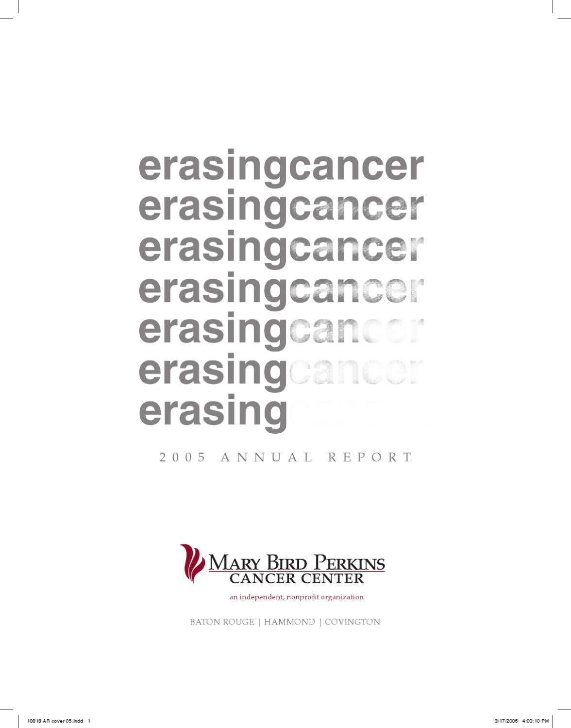2005 Annual Report by Mary Bird Perkins Cancer Center - issuu