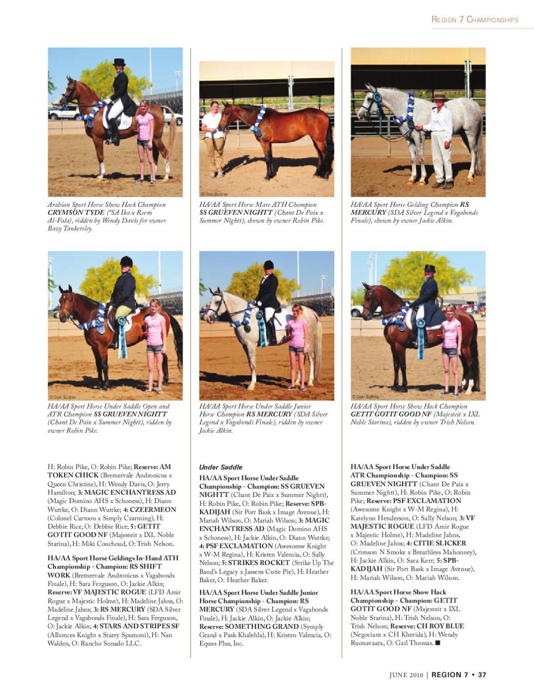 Arabian Horse Times June 2010 by Arabian Horse Times - issuu