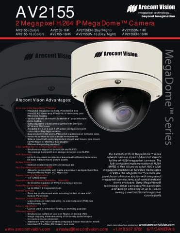 ARECONT VISION AV2155DN-16HK IP CAMERA DRIVER WINDOWS