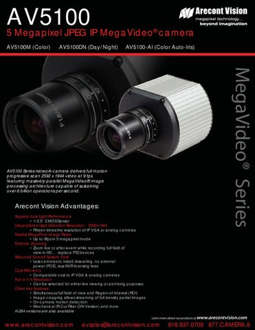 ARECONT VISION AV5100-AI IP CAMERA DRIVERS FOR PC
