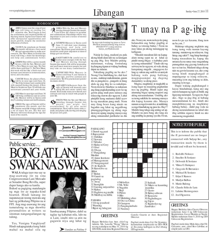 June 27, 2010 Brigada Issue by Rafael Francisco - issuu