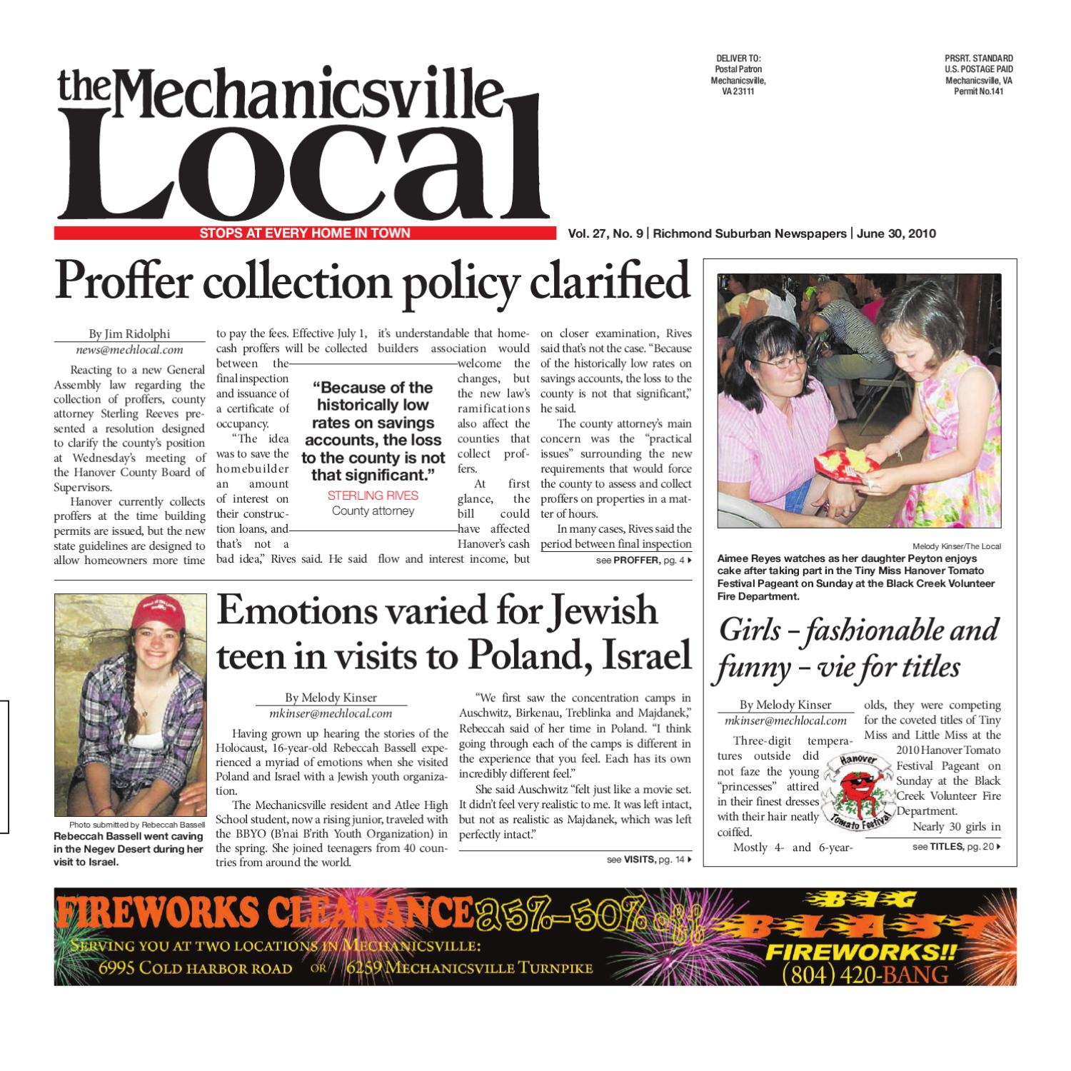 06302010 by the mechanicsville local issuu fandeluxe Images