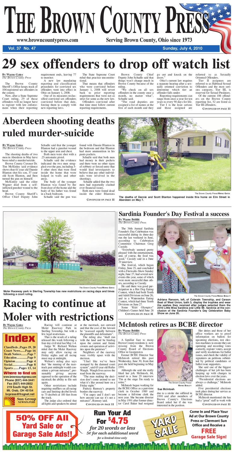 b48df32e5 Brown County Press by Clermont Sun Publishing Company - issuu