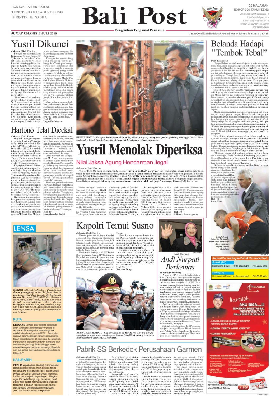 Edisi 02 Juli 2010 Balipostcom By E Paper Kmb Issuu Voucher 200 Double Point Sticker Tiara Gatzu Monang Maning Toko Soputan