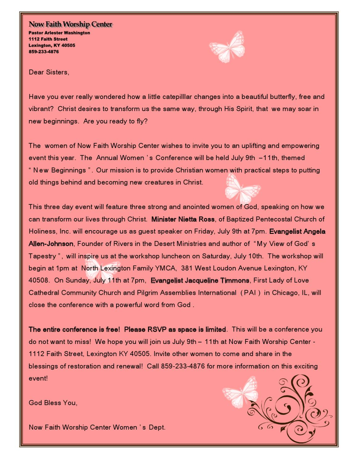 NFWC Women S Conference Invite Letter By Clarissa Roan Issuu