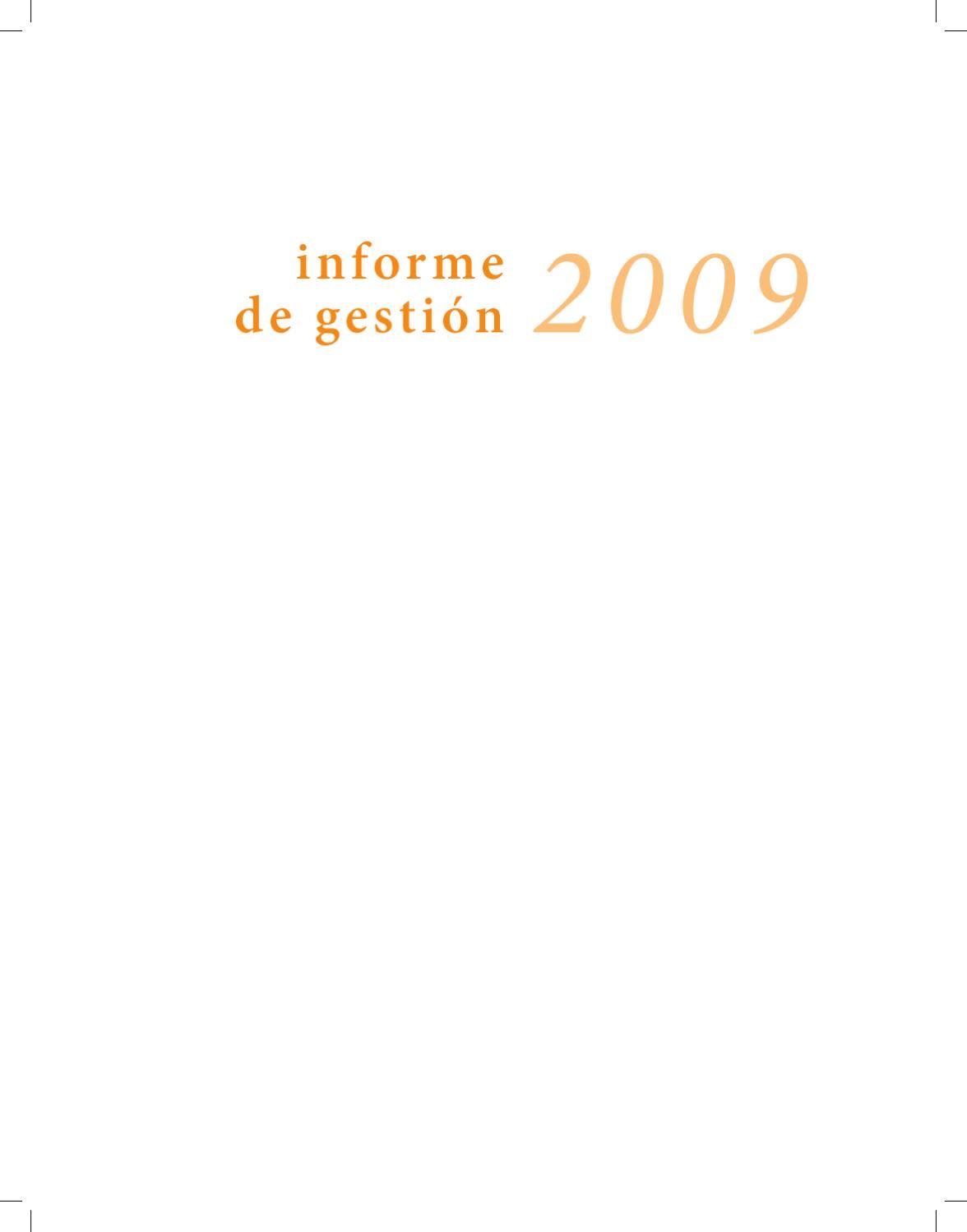 Informe de Gestión 2009 by EuphoriaNet - issuu