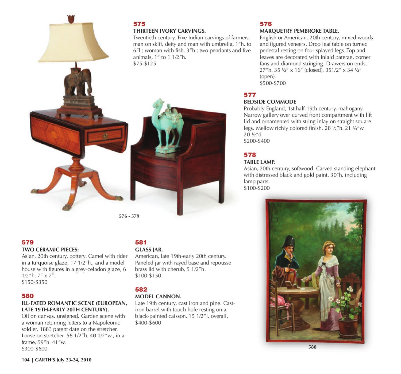Garth's Auctions: July 2010 Sale of Fine & Contemporary Art, Furniture &  Decorative Arts
