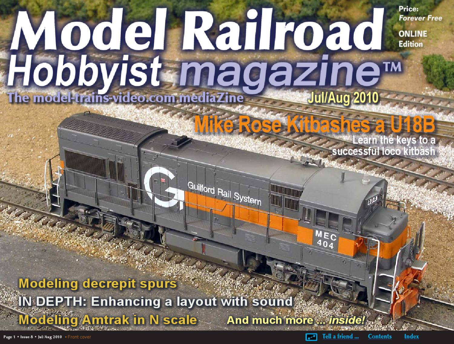 Mrh Jul Aug 2010 Issue 8 By Model Railroad Hobbyist Magazine Issuu Lionel Wiring Control Switch As Well Spst Toggle