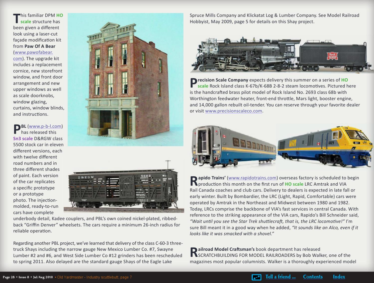 MRH Jul/Aug 2010 - Issue 8 by Model Railroad Hobbyist