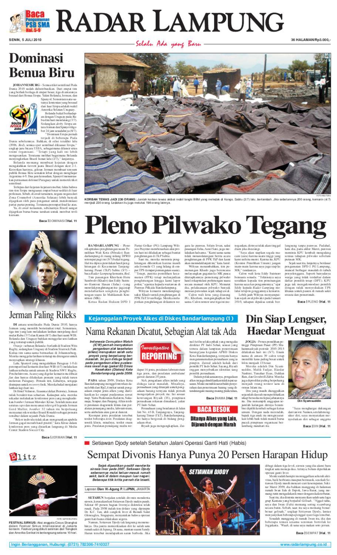 Radar Lampung Senin 5 Juli 2010 By Ayep Kancee Issuu Pierre Cardin Pc106591f09 Silver Kombinasi Gold