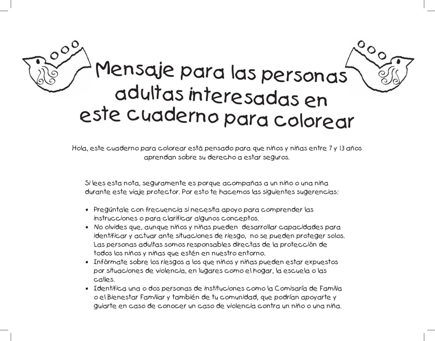 Libro para colorear by Fundación Plan - issuu