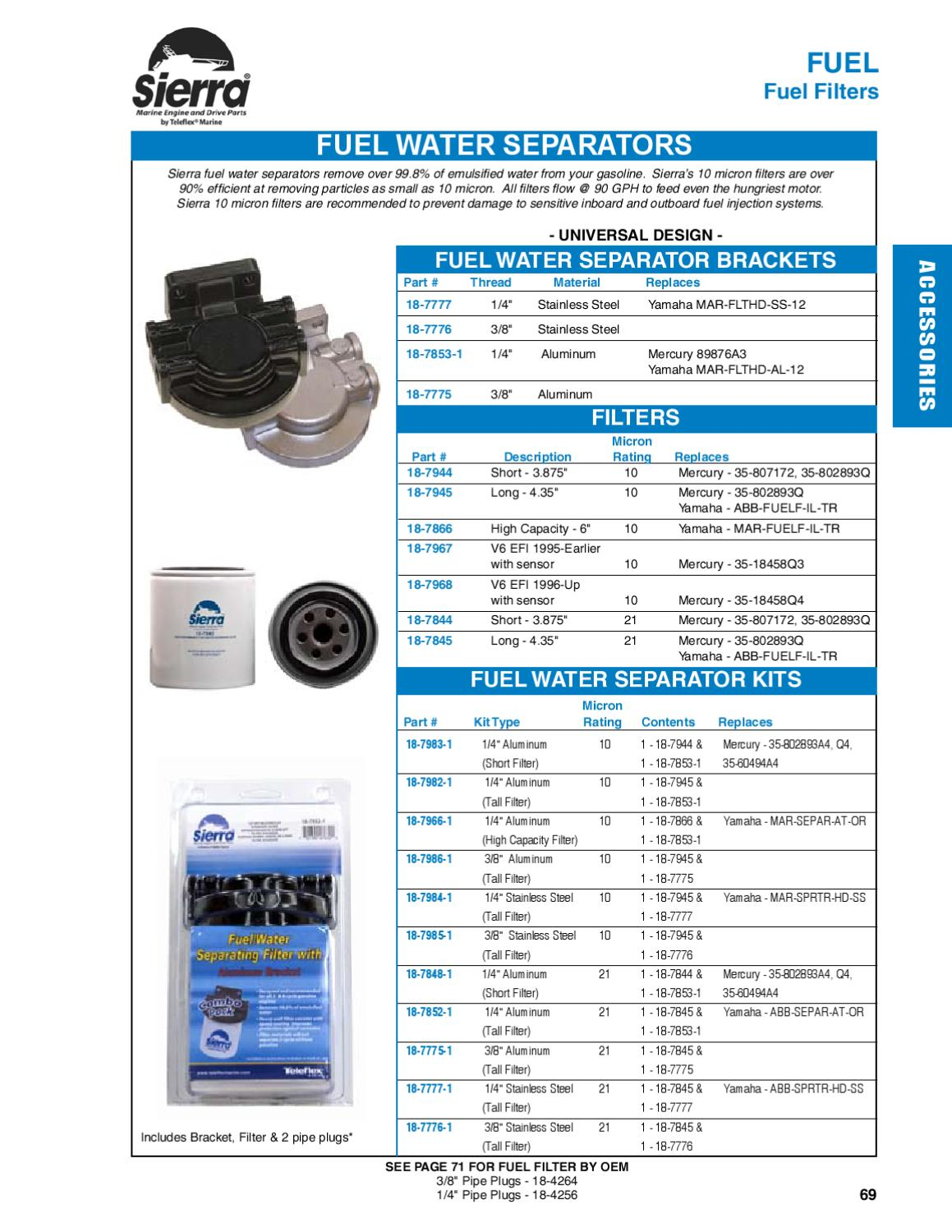 Sierra Marine Engine And Drive Part Accessories By Anthea Webb Issuu Fuel Filters