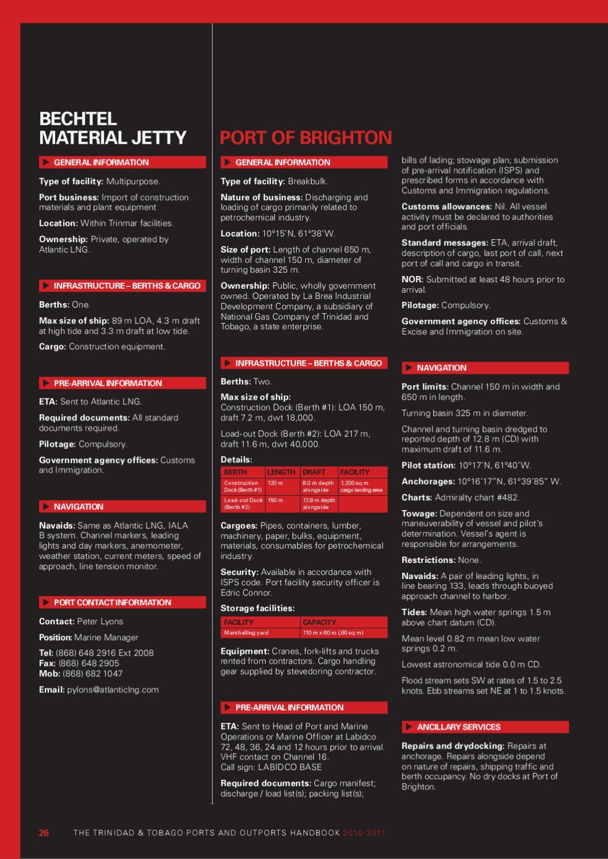 The Trinidad & Tobago Ports and Outports Handbook 2010-2011