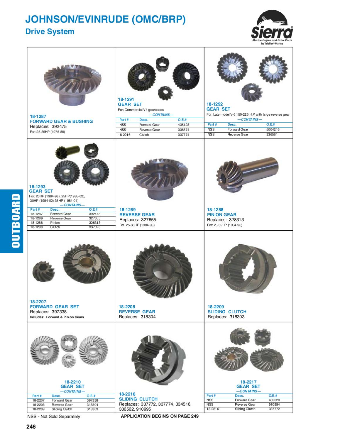 Sierra Marine Engine and Drive Parts for Johnson Evinrude